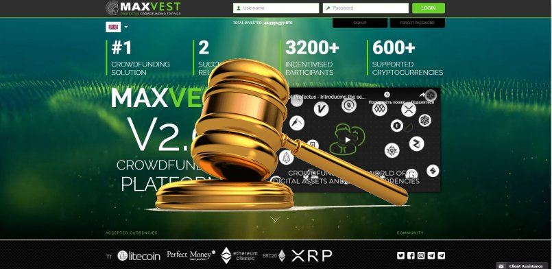 Maxvest.io - scam! Compensation paid.