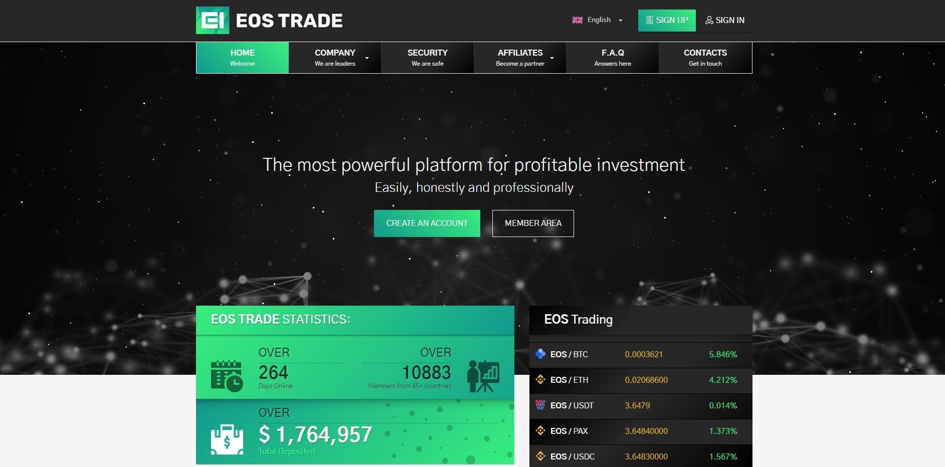Eos trade