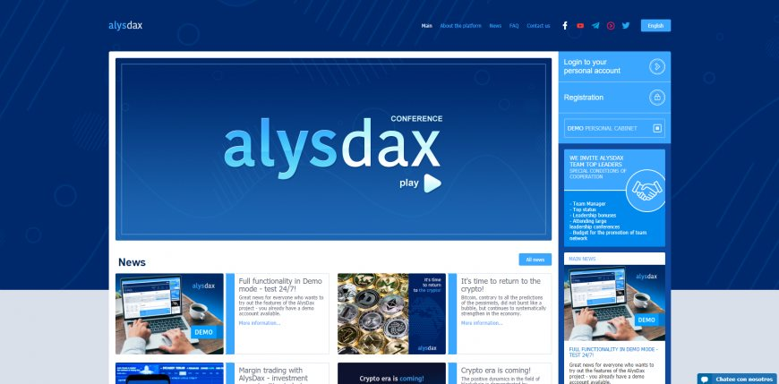 Review and review of the project Alysdax