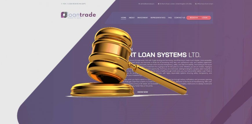 Loantrade.pro - SCAM! Compensation paid.