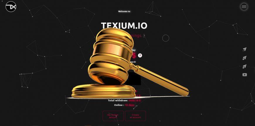 Texium.io - SCAM! Compensation paid.