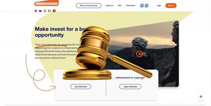 Chipinvestment.com - SCAM! Compensation paid.